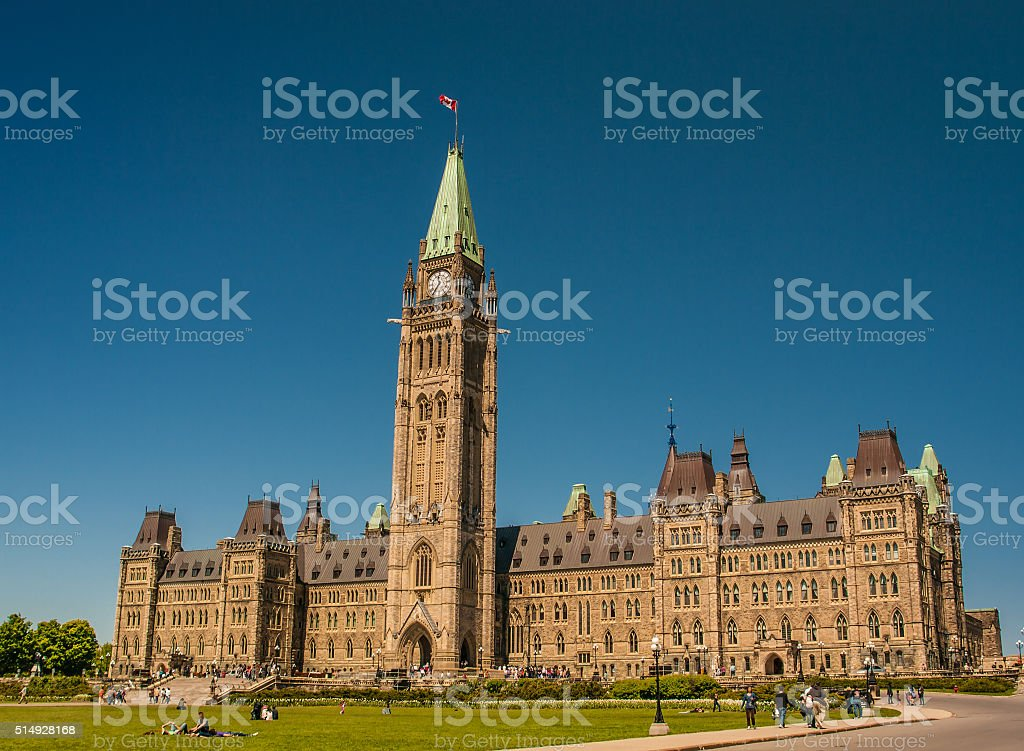 CANADA'S PARLIAMENTARY PRECINCT stock photo