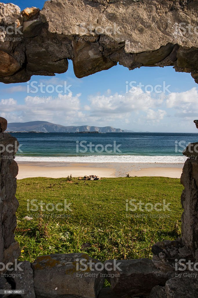 silence_and_solitude_beach_Achill_Island_unsharpened_garylestrangephotography stock photo