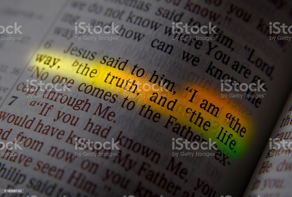 I AM THE WAY, THE TRUTH, AND THE LIFE stock photo