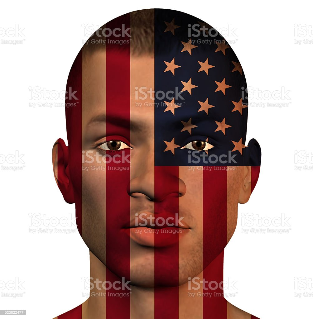 USA MAN stock photo