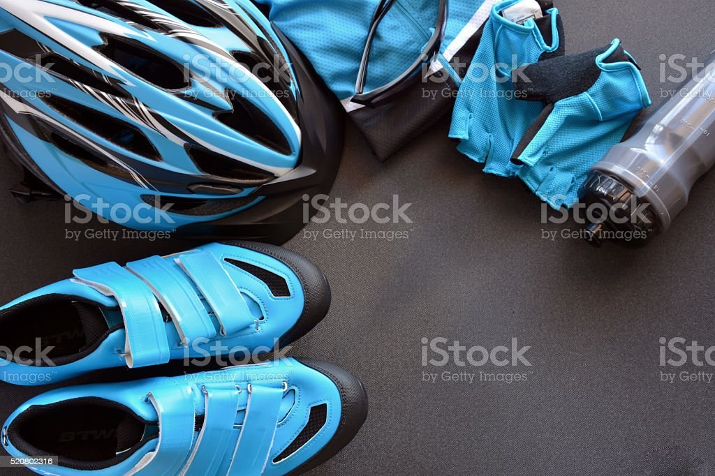 ACCESSORIES FOR MOUNTAIN BIKE stock photo