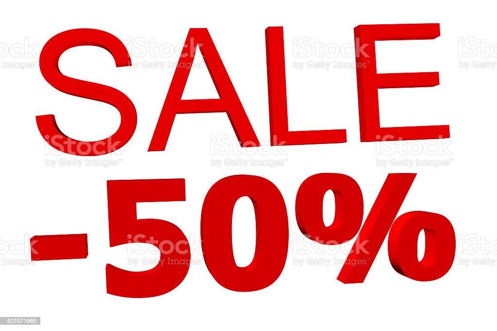 -50% stock photo