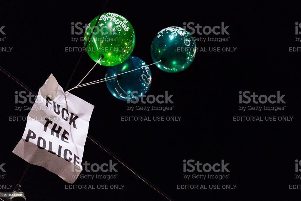 FUCK THE POLICE stock photo