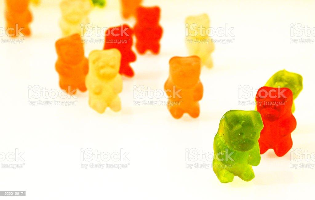 GUMMY BEARS SPIRAL stock photo