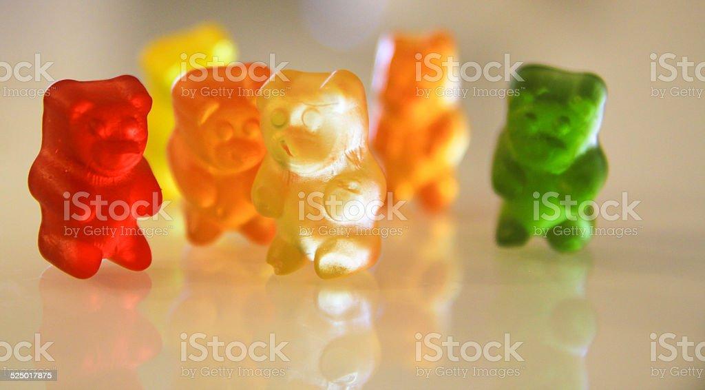 GUMMY BEARS COLORED stock photo