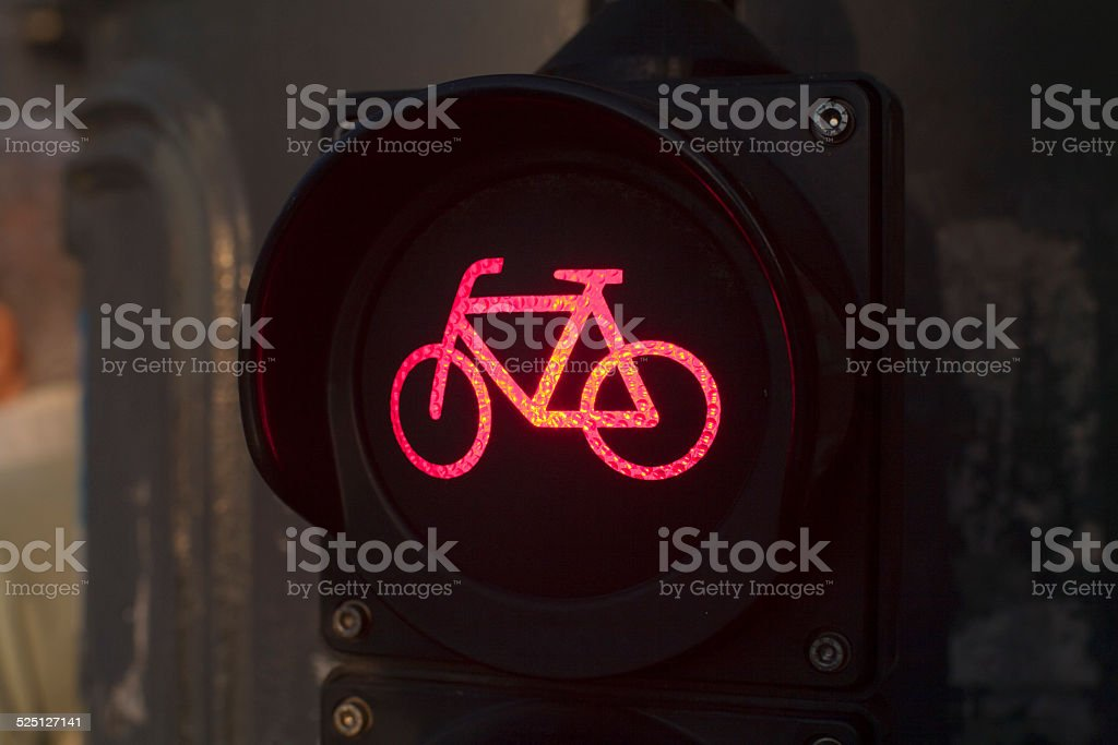 TRAFFIC SIGN FOR CYCLISTS stock photo
