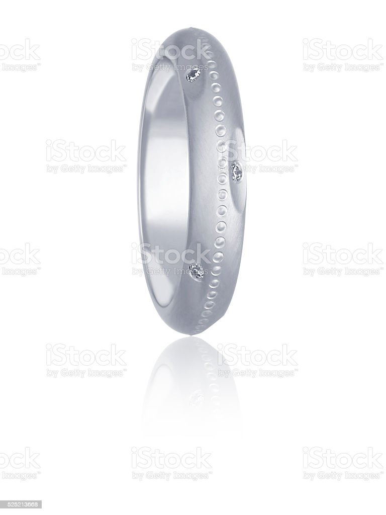3-DIMENSIONAL RENDER OF WEDDING RING stock photo