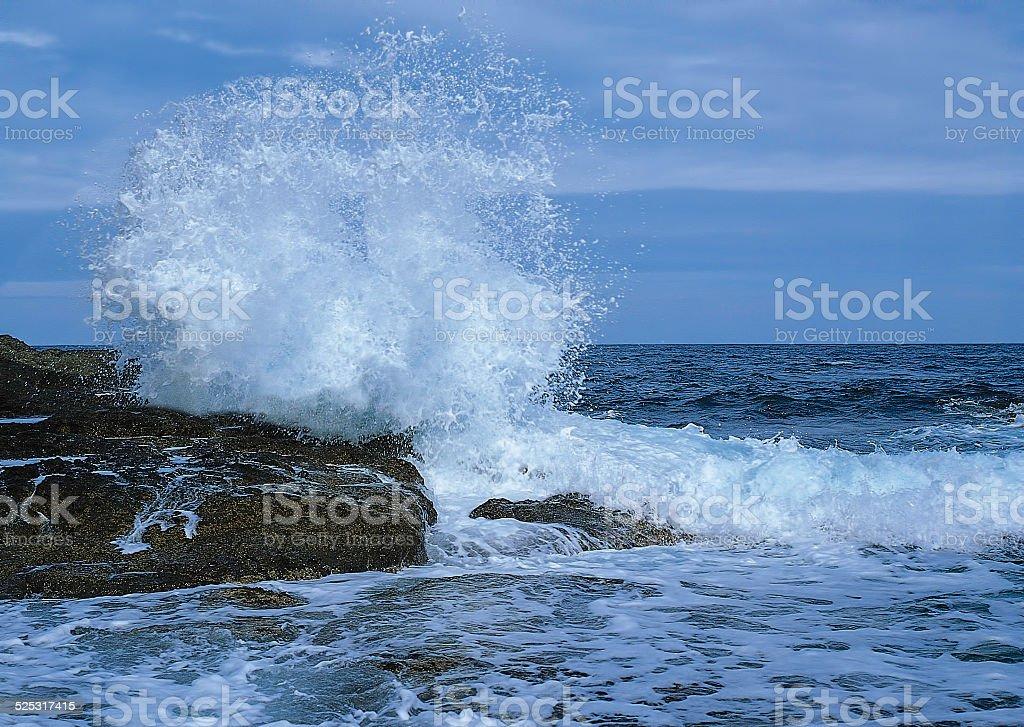 OCEAN ROCKS WAVES stock photo