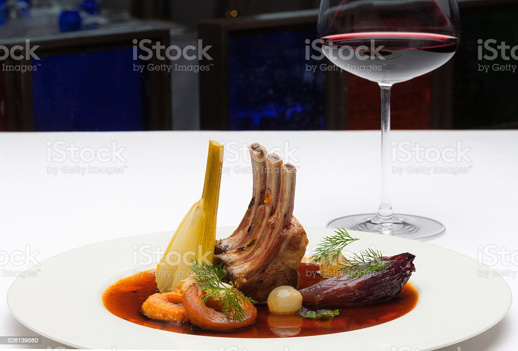 CHOPS WITH SAUCE stock photo