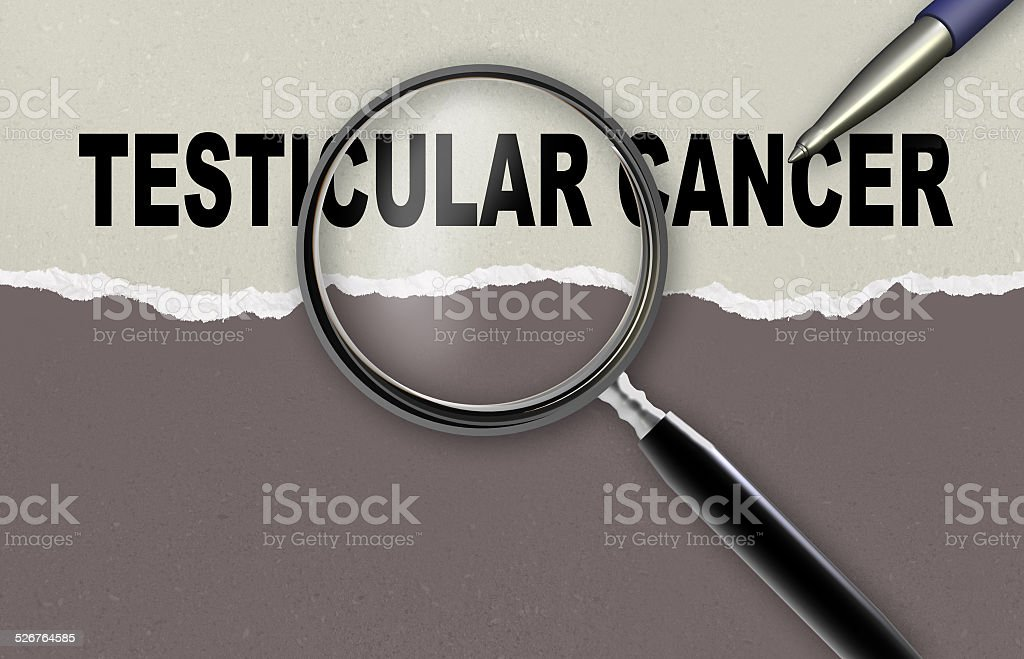 TESTICULAR CANCER stock photo