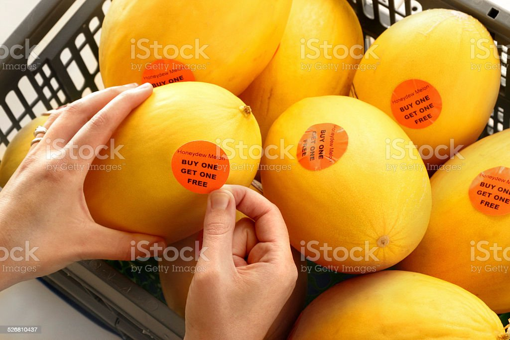 BUY ONE GET ONE FREE stock photo