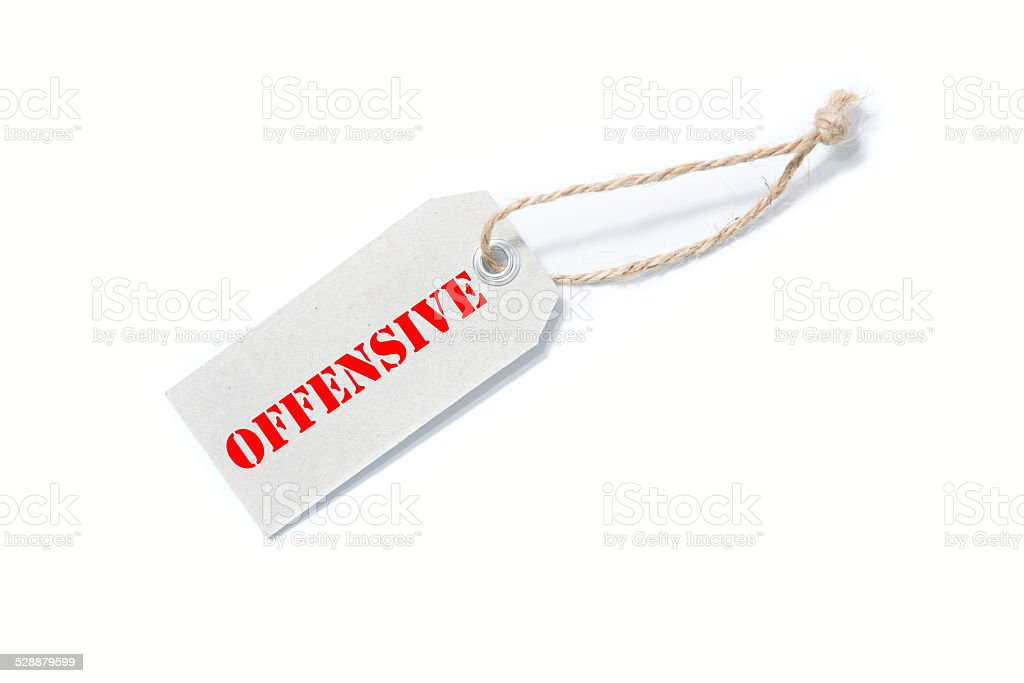 OFFENSIVE stock photo