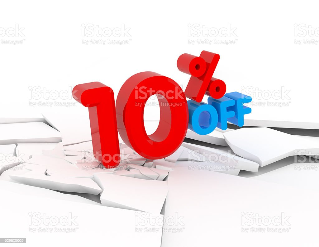10% OFF stock photo