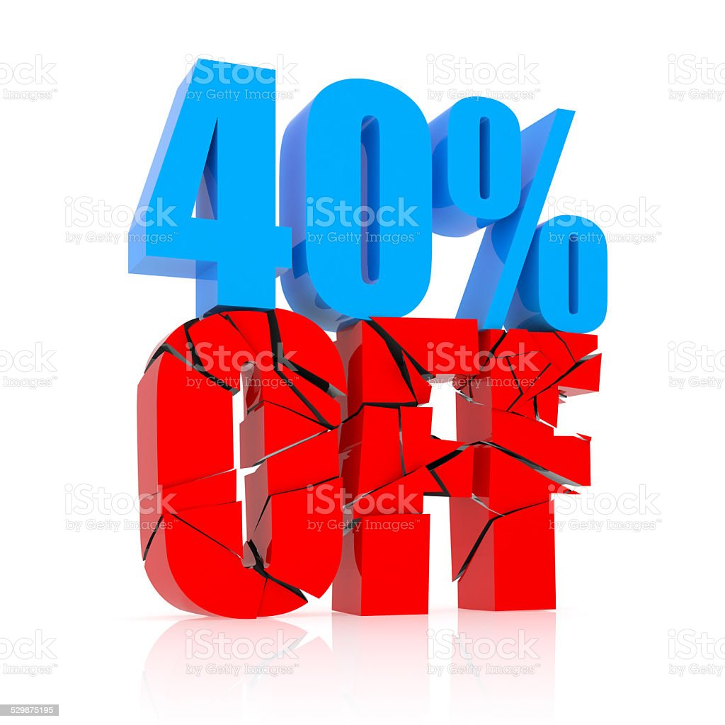 40% OFF stock photo