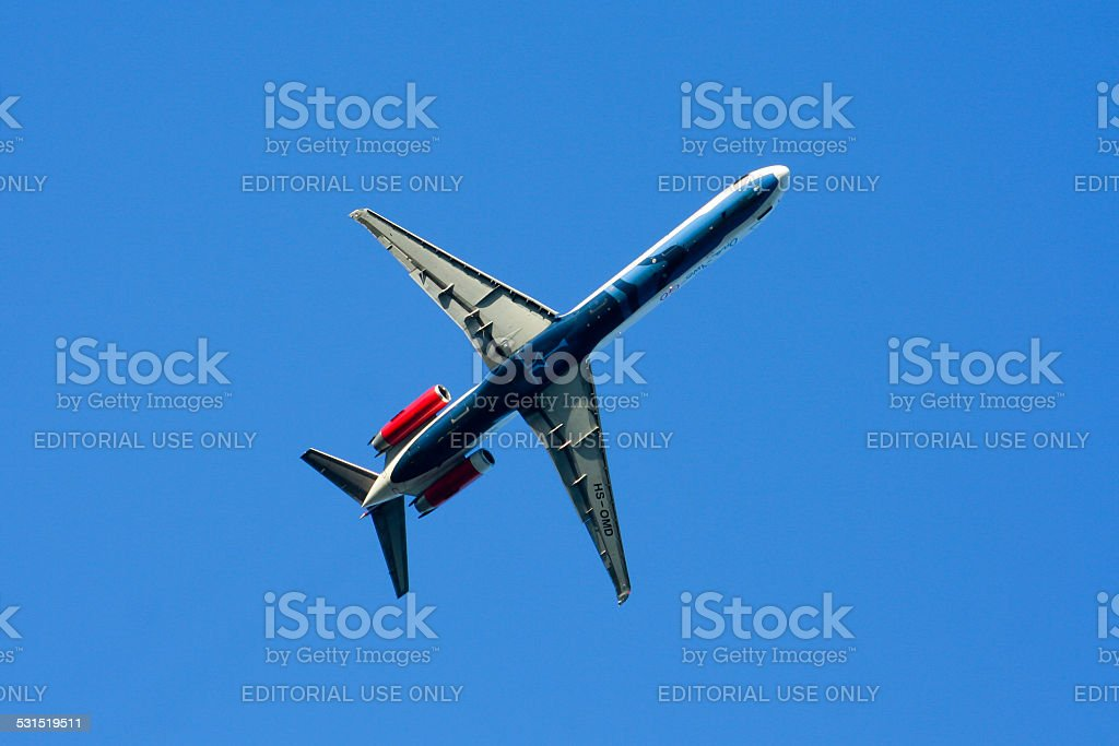 HS-OMD MD-82 stock photo