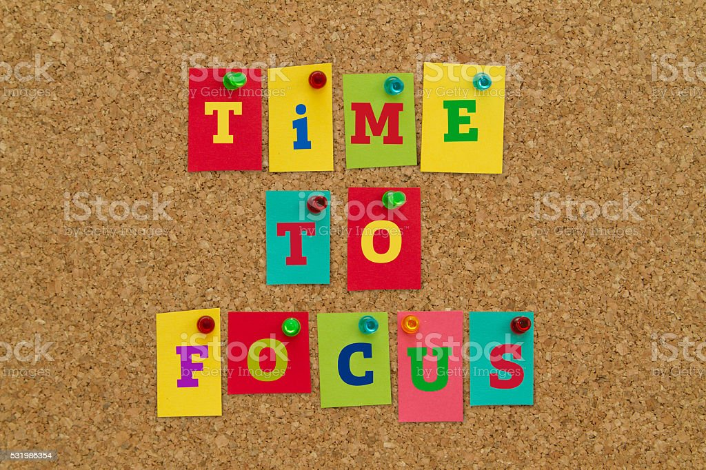 TIME TO FOCUS stock photo