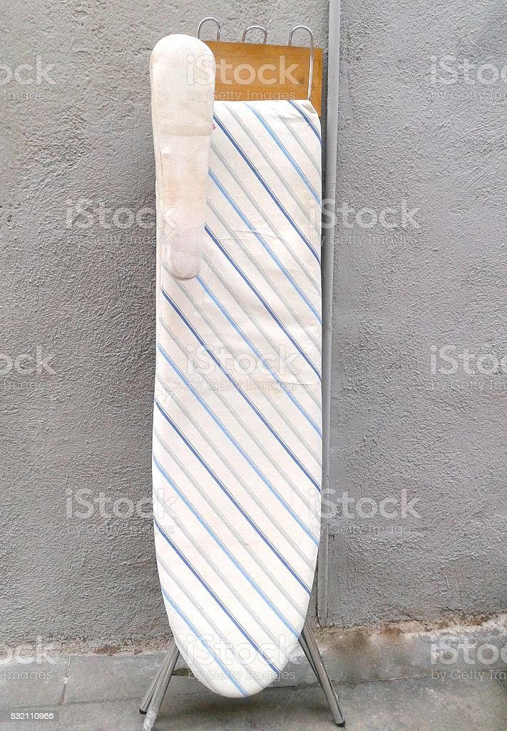 OLD IRONING BOARD stock photo