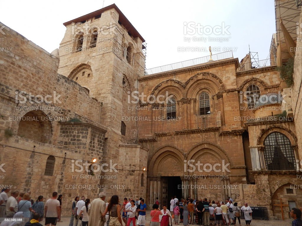CHURCH OF THE HOLY SEPULCHRE, JERUSALEM, ISRAEL stock photo