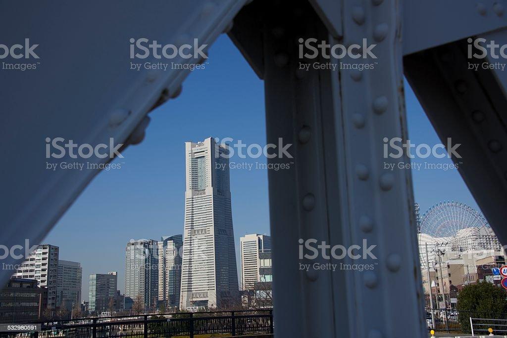 YOKOHAMA MINATOMIRAI DESTACADA TORRE foto de stock libre de derechos