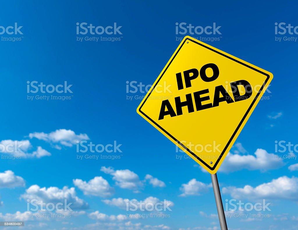 IPO AHEAD stock photo