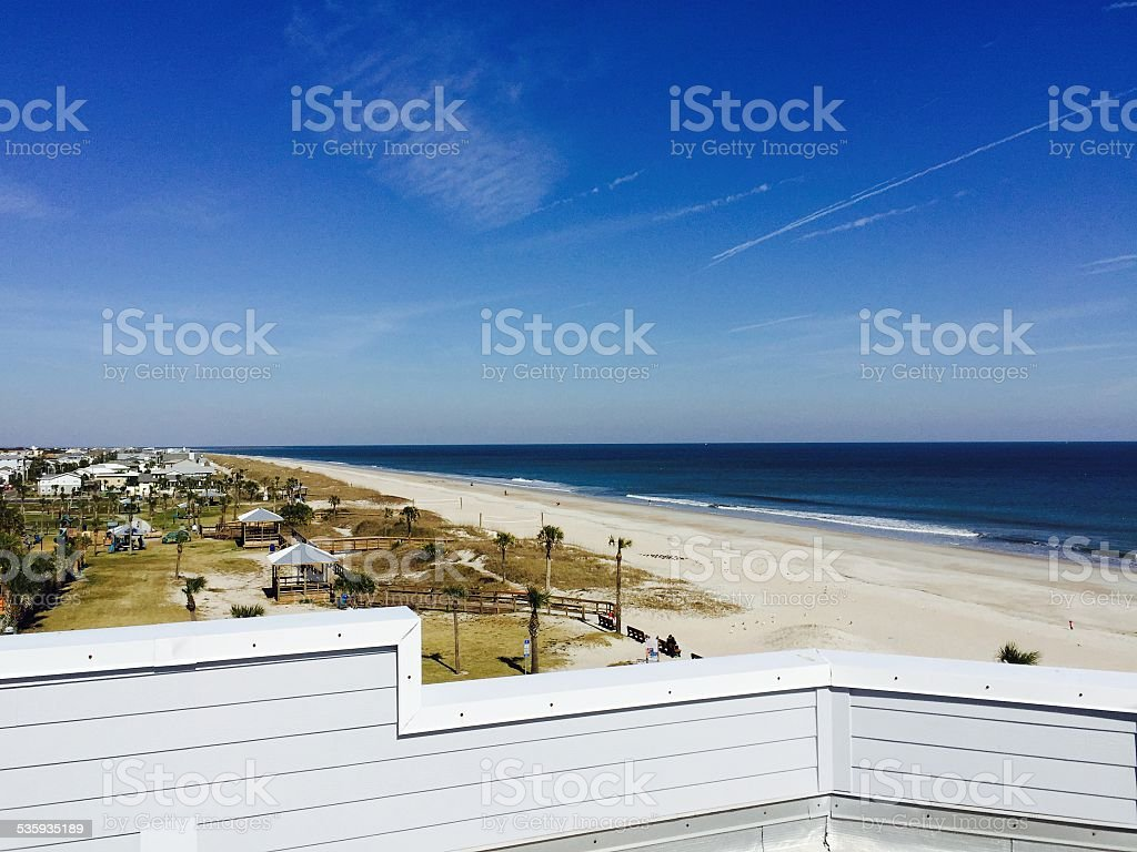 ROOFTOP BEACH VIEW stock photo