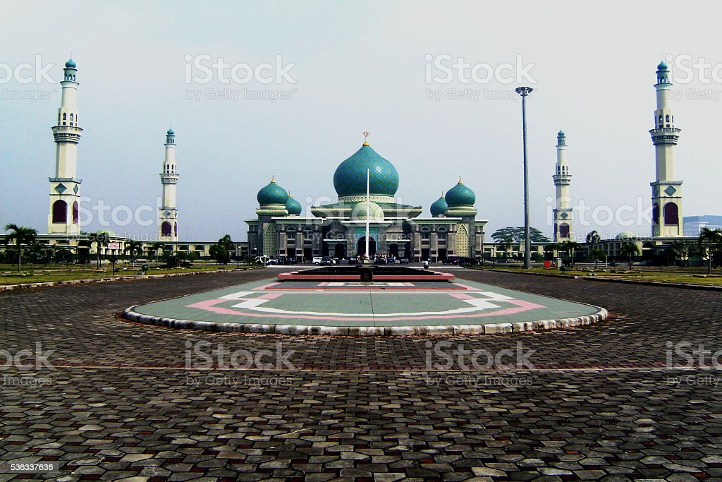 MOSQUE OF RIAU stock photo