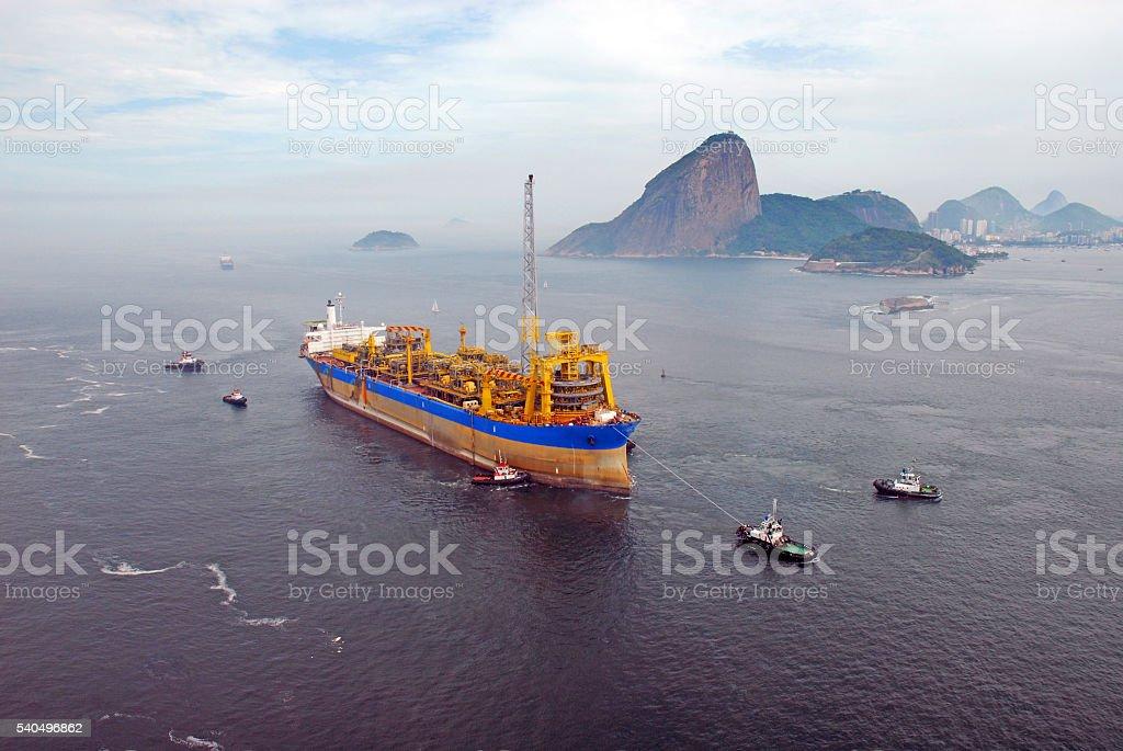 PLATFORM SHIP stock photo