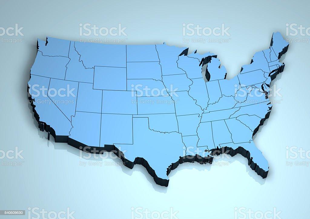USA 3D stock photo
