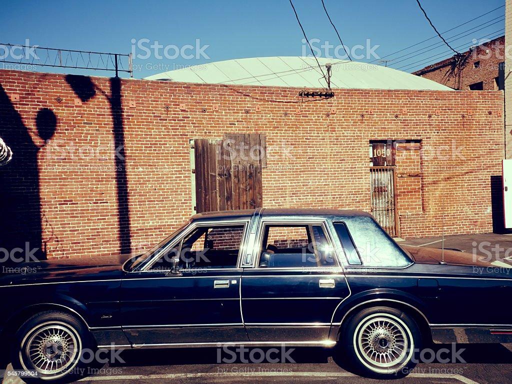 BLACK BLUE CAR stock photo