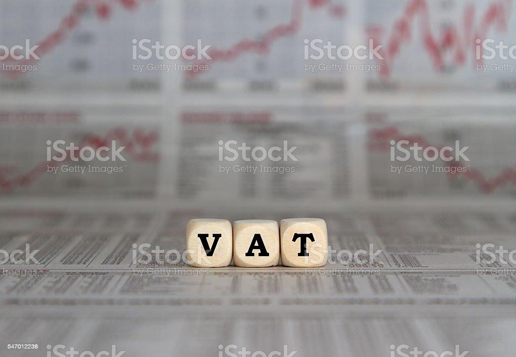 VAT stock photo