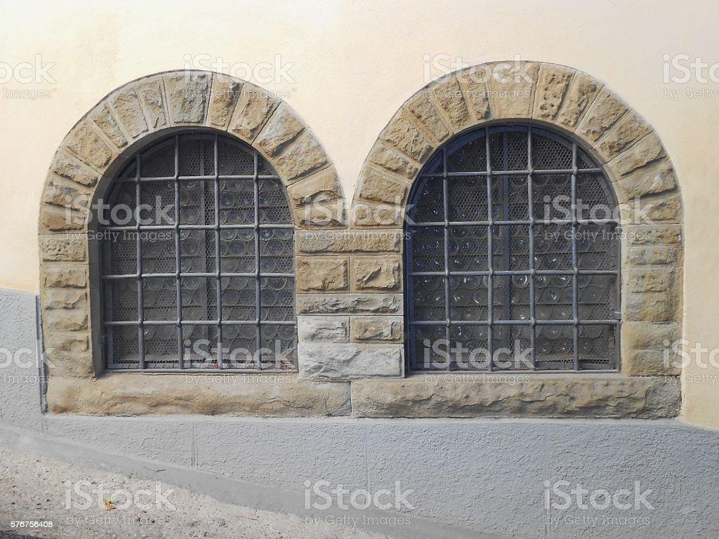 WINDOWS, FIESOLE, ITALY stock photo