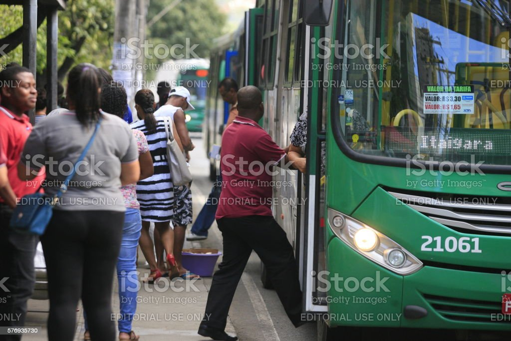 COLLECTIVE BUS / ROAD / PASSENGER stock photo