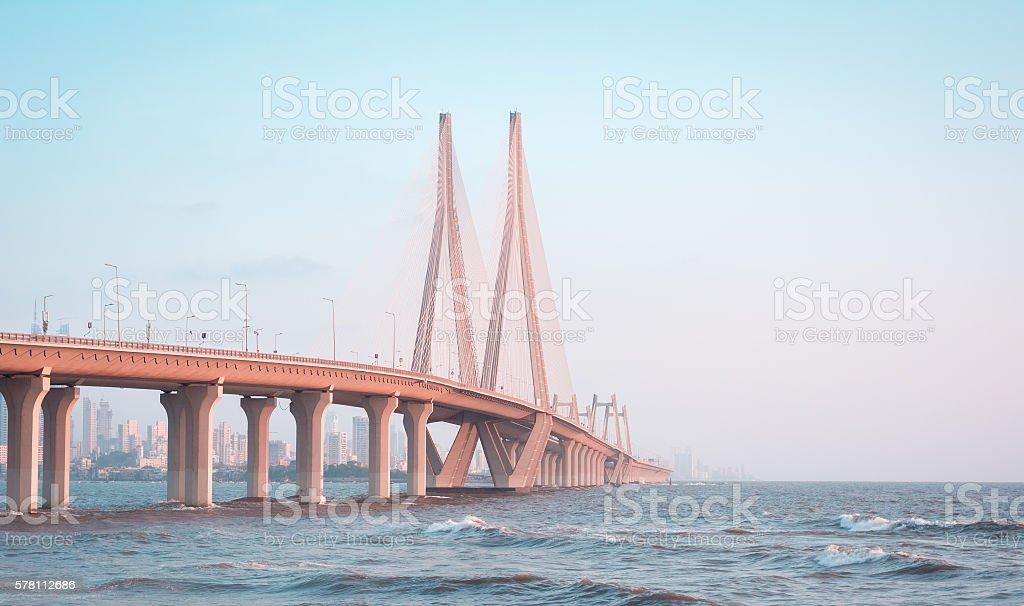BANDRA-WORLI SEA LINK, MUMBAI stock photo