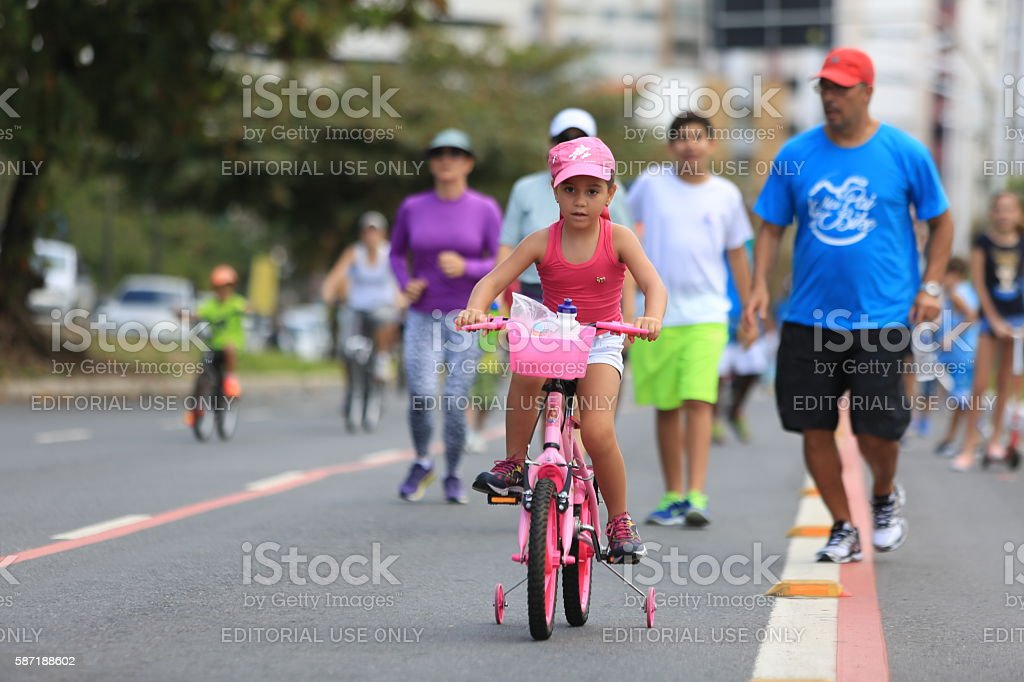 RIDING ON THE / LEISURE STREETS / MAGALHAES NETO / PHYSICAL ACTI stock photo