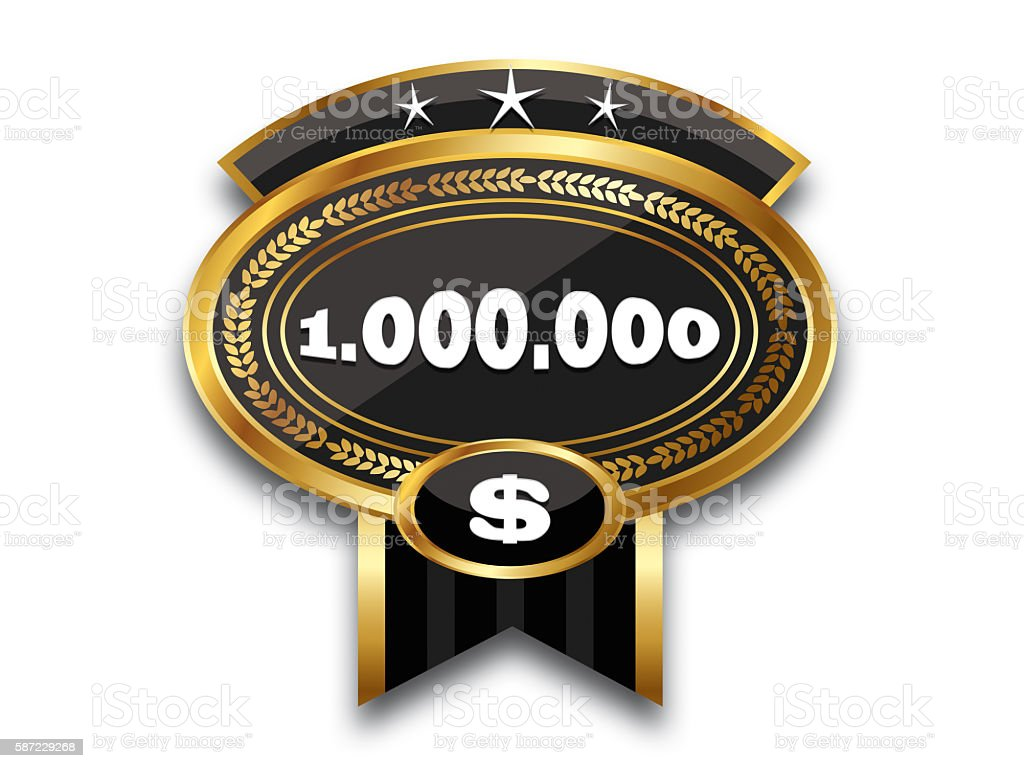 MEDAL - 1.000.000 $ stock photo