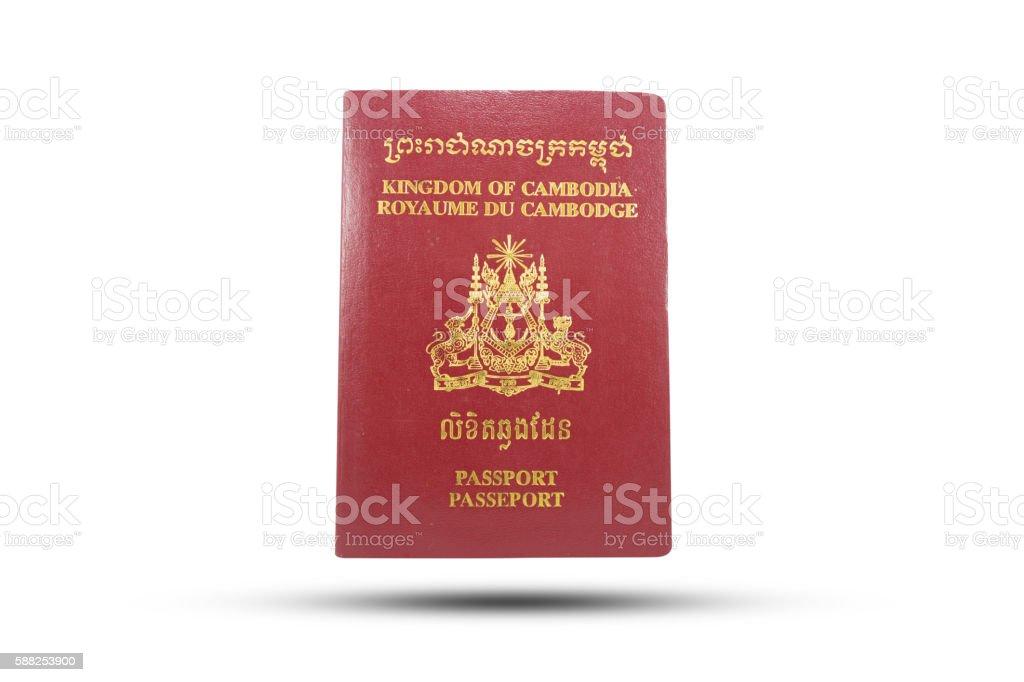 PASSPORT  CAMBODIA stock photo