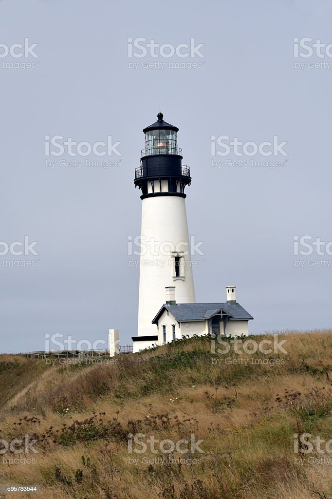 YAQUINA HEAD LIGHTHOUSE stock photo