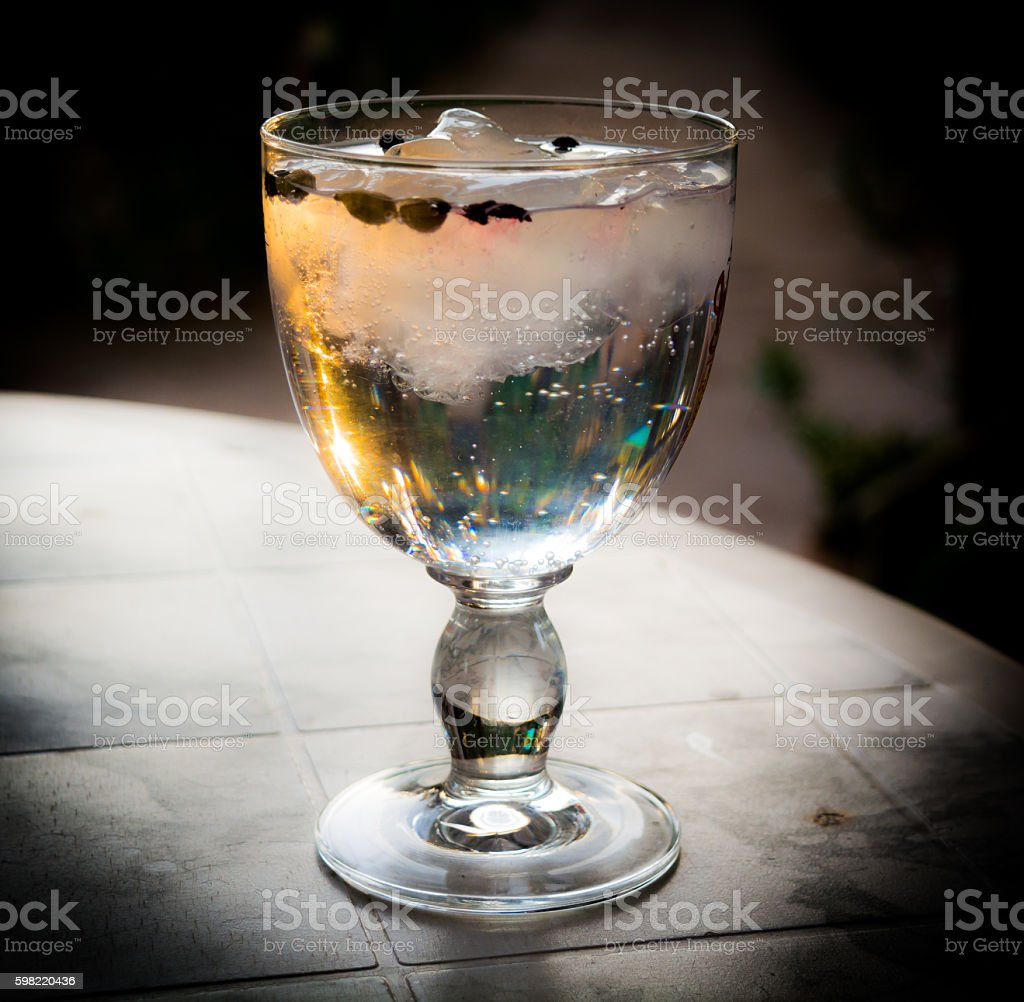 CUP TONIC GIN stock photo