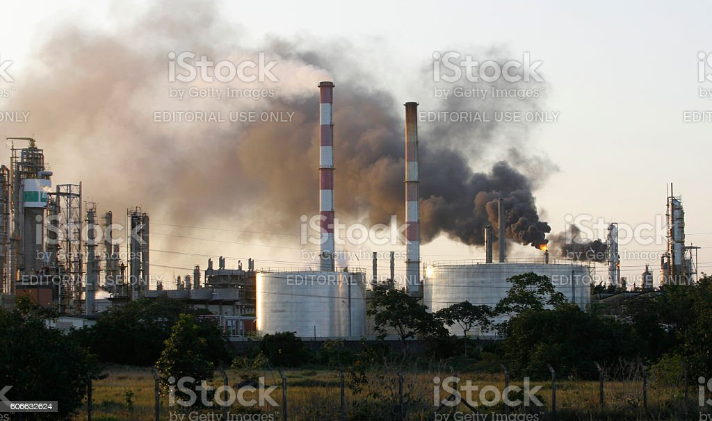 CHIMNEY / MANUFACTURE / POLO stock photo