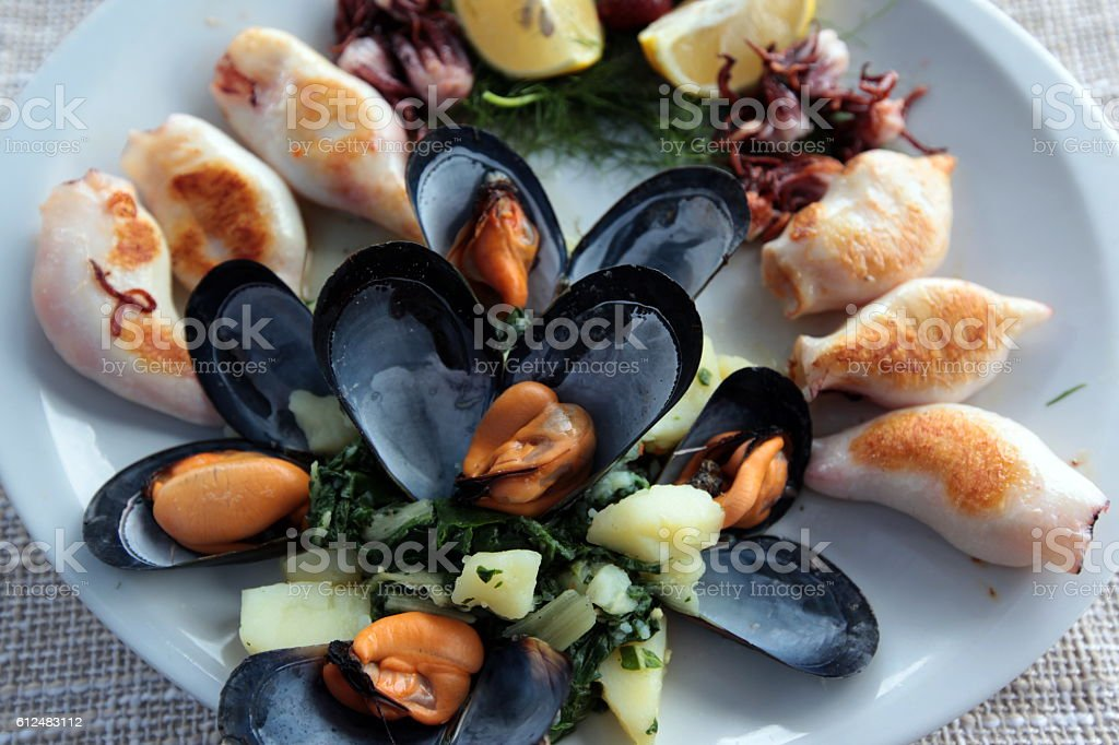 EUROPE BALKAN MONTENEGRO FOOD SEAFOOD stock photo