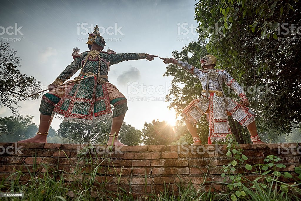 STRICTLY KHON DANCING (THOTSAKAN VS. HUNUMAN) stock photo