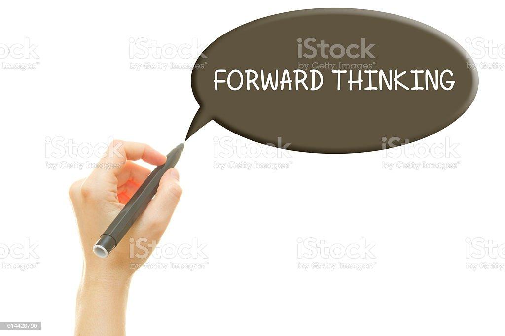 FORWARD THINKING stock photo