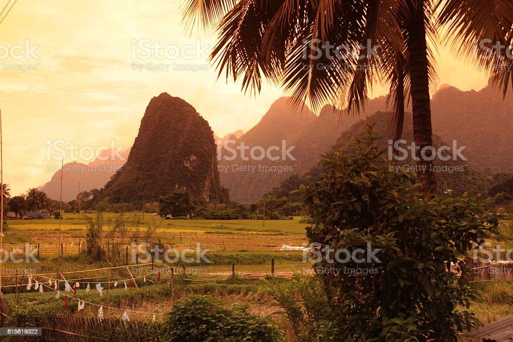 ASIA SOUTHEASTASIA LAOS VANG VIENG LUANG PRABANG stock photo
