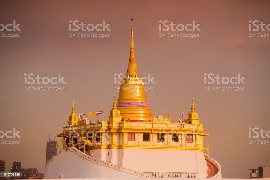 THAILAND BANGKOK GOLDEN MOUNT TEMPLE stock photo