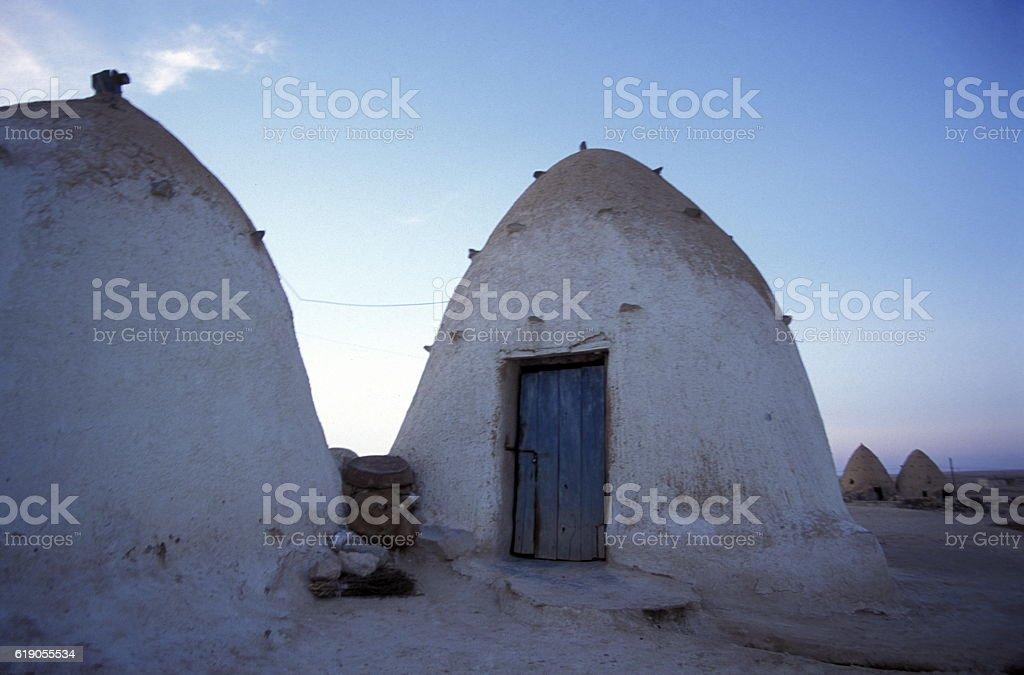 MIDDLE EAST SYRIA HAMA SAROUJ HOUSE stock photo