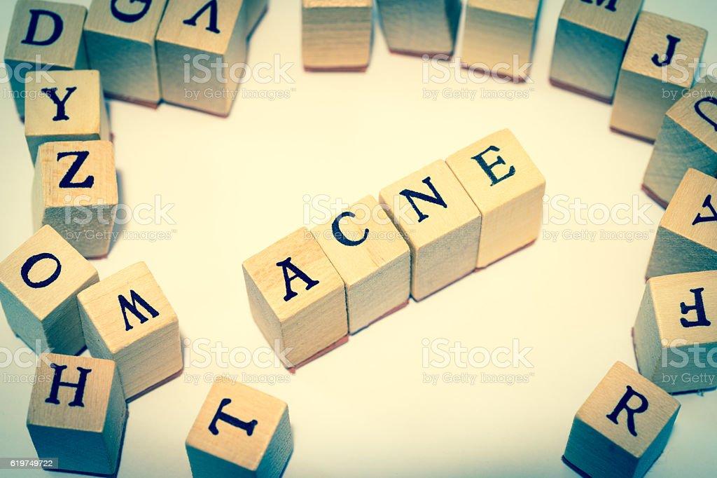 ACNE stock photo