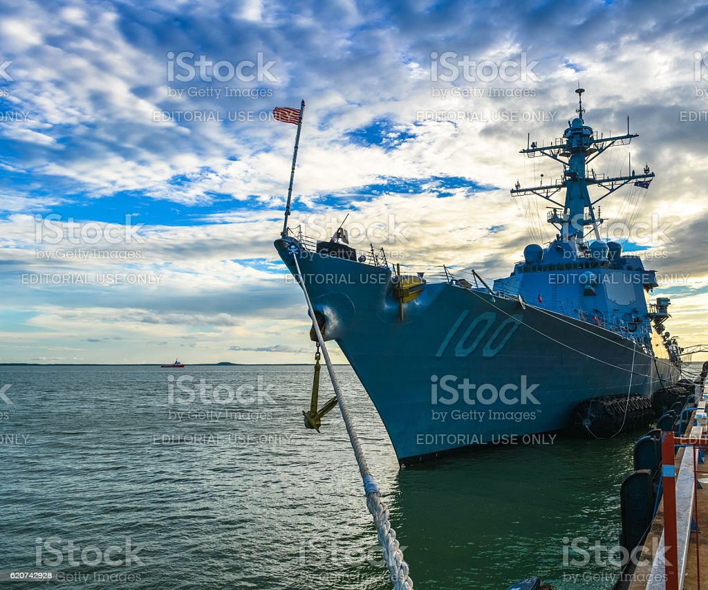 USS KIDD stock photo