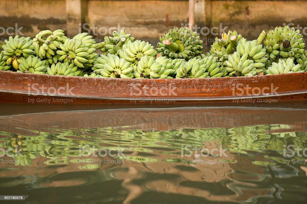 ASIA THAILAND SAMUT SONGKHRAM THA KHA FLOATING MARKET stock photo