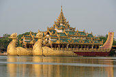 ASIA MYANMAR YANGON KANDAWGYI LAKE RESTAURANT KARAWEIK