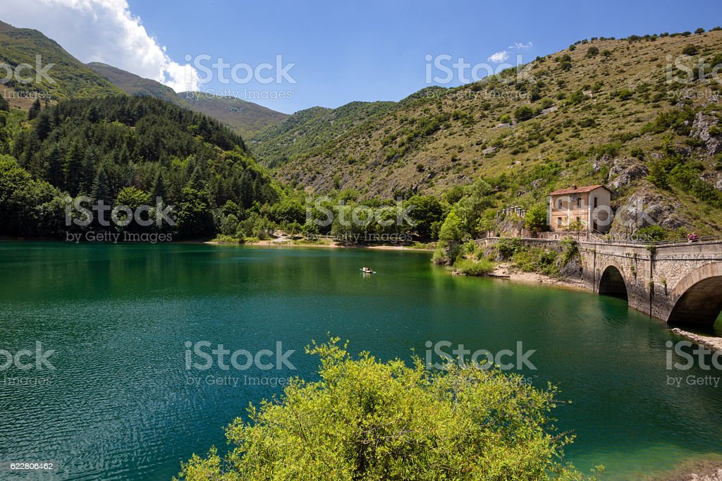 ABRUZZO LAGO SAN DOMENICO stock photo